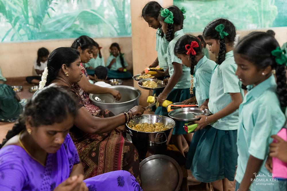 Abendessen in der Prana Förderschule