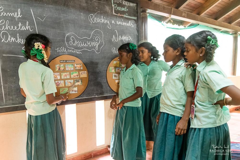 Die Kinder lernen spielerisch in Gruppen. Jedes Kind kann sein Wissen beitragen.